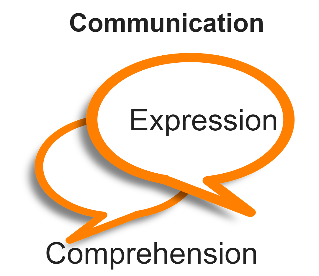 communication, expression, comprehension